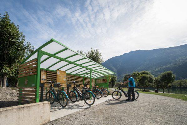 Borne vélo electrique - Photo Alban Pernet