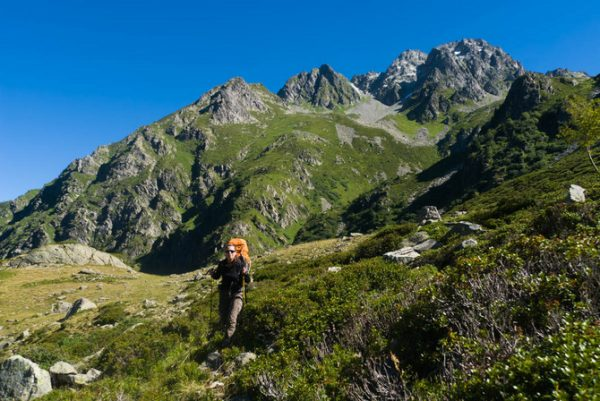 Sous les pointes de la Bourbières (2 607 m).