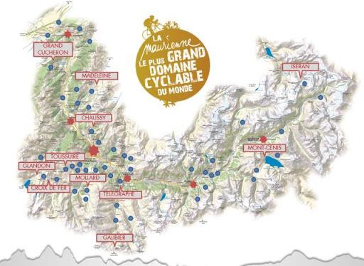 Carte des Cols de Maurienne