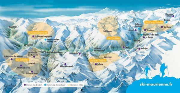 Panorama ski en Maurienne