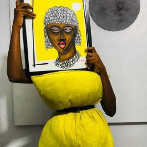 Peintre Obou_exposition_espace_d_arts_visuels_du_cairn_val_d_arc