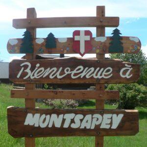 Panneau Accueil - Montsapey