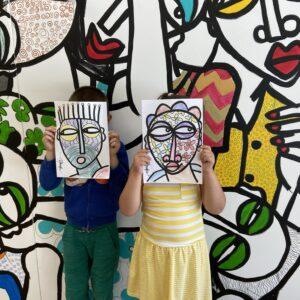 Boogie woogie in Cairn _ fresque et ateliers_ Obou 3