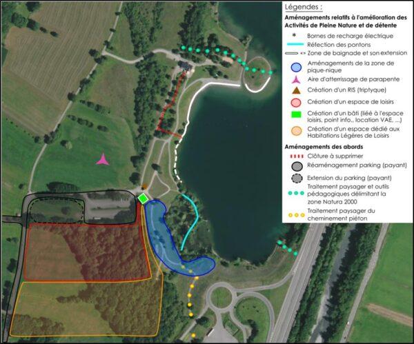 Plan du lac des Hurtières