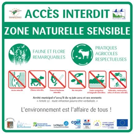 Panneau Natura 2000